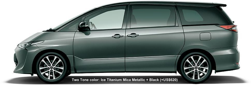 2 TONE COLOR: ICE TITANIUM MICA METALLIC + BLACK (option color US$620)