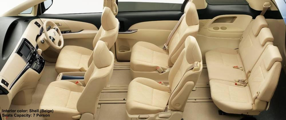 New Toyota Estima Interior Shell Beige 7 Seater