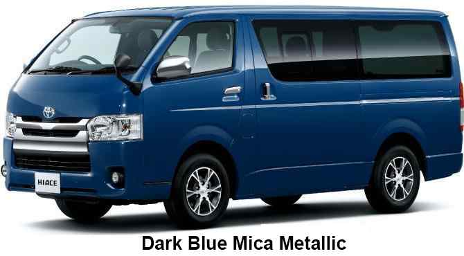 New Toyota Hiace Van Body colors, Full variation of ...