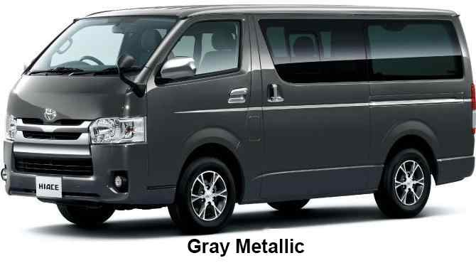 New Toyota Hiace body color: GRAY METALLIC