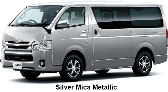New Toyota Hiace Van Body Colors Full Variation Of