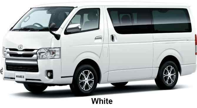 New Toyota Hiace Van Body colors, Full variation of exterior