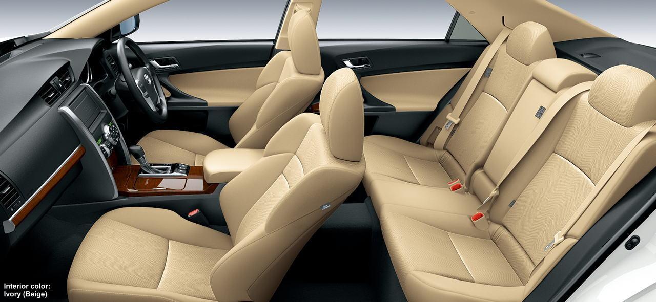 New Toyota Mark X Photo: Interior Color Ivory (Beige)