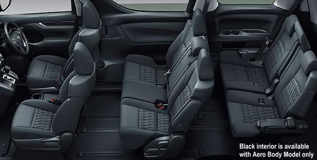 New Toyota Vellfire Interior: Black color (for Aero Body Model only)