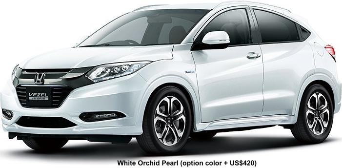 New Honda Vezel body color: WHITE ORCHID PEARL (option color +US$420)