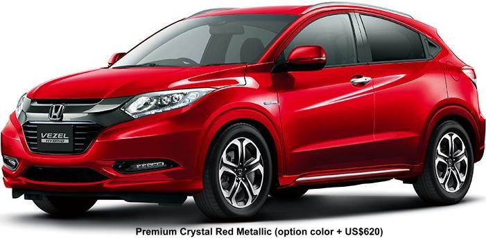 New Honda Vezel Hybrid Body Colors Full Variation Of Exterior Colours Selection