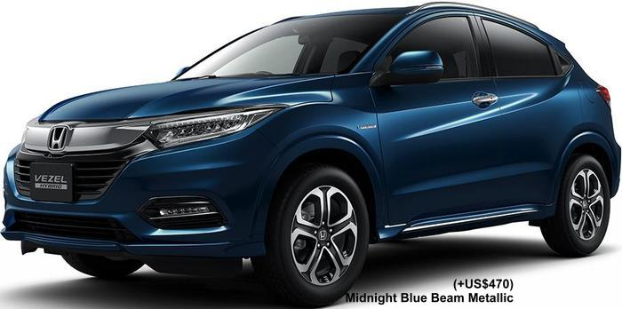 New Honda Vezel Hybrid Body colors, Full variation of exterior colours selection