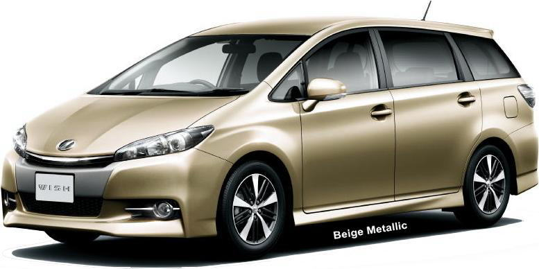 New Toyota Wish Body color photo, Exterior colour picture, colors ...
