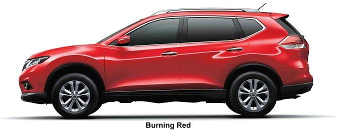 Nissan X-Trail body color: Burning Red