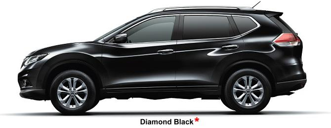 Nissan X-Trail body color: Diamond Black (option color +US$ 540)