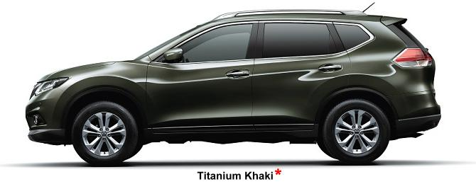 Nissan X-Trail body color: Titanium Khaki (option color +US$ 540)