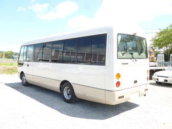 Mitsubishi Rosa used Bus pictures: 2004 model, Beige color, Back (Rear) photo