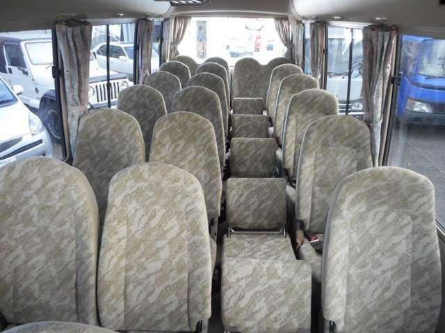 Mitsubishi Rosa used Bus pictures: 2004 model, Blue color, Interior (seat) photo