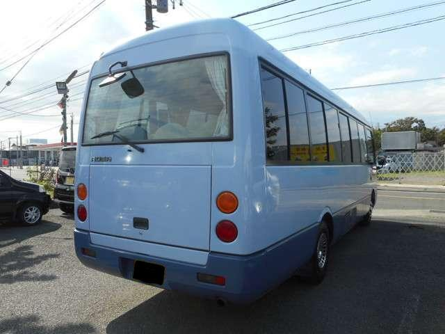 Mitsubishi Rosa used Bus pictures: 2004 model, Blue color, Back (Rear) photo