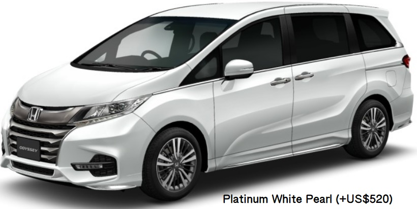 New Honda Odyssey body color: PLATINUM WHITE PEARL