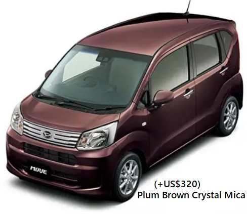 New Daihatsu Move body color: Plum Brown Crystal Mica (+US$320)