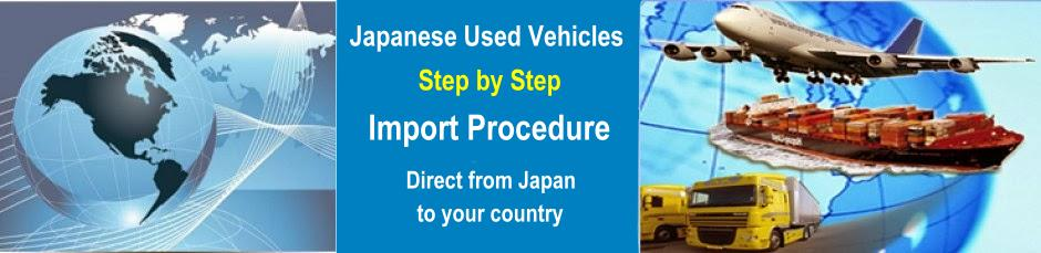 Used Japanese car import procedure